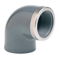 "Effast Угол ПВХ Effast 90° c металлическим кольцом d40x1-1/4"", фото 1"