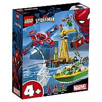 Конструктор LEGO Super Heroes Marvel Comics Человек-паук кража бриллиантов Доктором Осьминогом 150 деталей (76134)