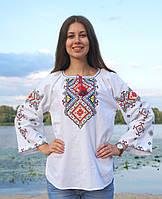 """Блуза жіноча """"Влада"""", широкий рукав, 100% бавовна , фото 1"""