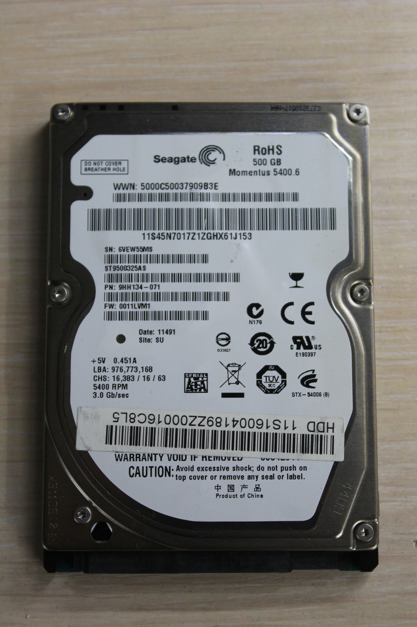 "Жесткий диск Seagate ST9500325AS 500GB 2.5"" Б\У"