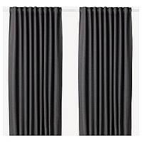 Гардины блокирующие свет IKEA ANNAKAJSA 300 см x 145 см Серые (003.902.40)
