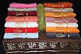 Полотенце бамбуковое 70х140 ARYA (Турция) Bonita (голубое, оранж), фото 2