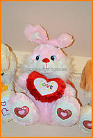 Игрушка розовый заяц 48 см | Игрушка зайка
