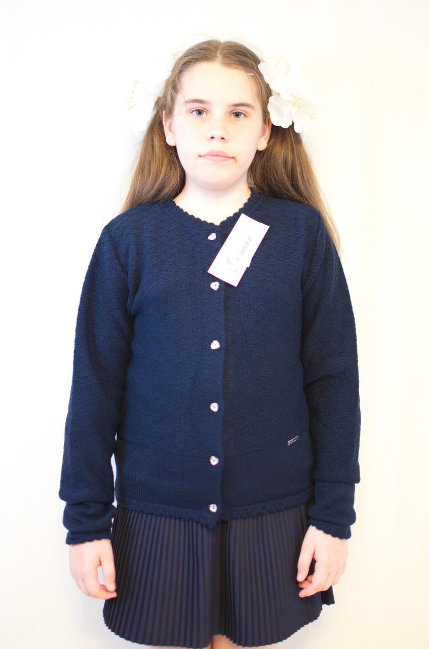 красивая вязаная синяя кофта для девочки в школу польша цена 298