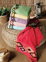 Полотенце ARYA (Турция) Tendora бархат с вышивкой 70x140 см. 1150584