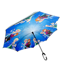 Зонт обратного сложения Up-brella Frozen Blue (hubber-298)