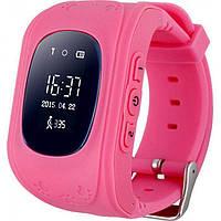 Детские смарт часы-телефон с GPS трекером KinderWatch Q50 Розовый (hubber-9-79)