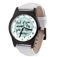 Часы Ziz Never try - never know в подарочной коробке и доп. ремешок - R156337