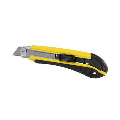 Нож 18мм сегментированое лезвие 175мм металическая направляющая, фиксатор, самоблокировка, серия Dyn