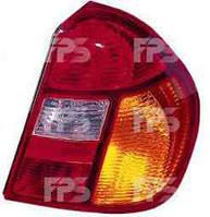 Фонарь задний для Renault Clio Symbol '01-05 левый (DEPO) красно-желтый