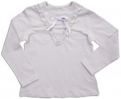 """Блуза для девочки  """"Атласный бантик"""""""