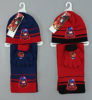 Шапка+шарф+перчатки для девочек Disney. Артикул: 780-621 {есть:Один размер}