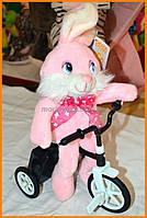 Мягкая игрушка заяц на велосипеде | Мягкая игрушка на батарейках