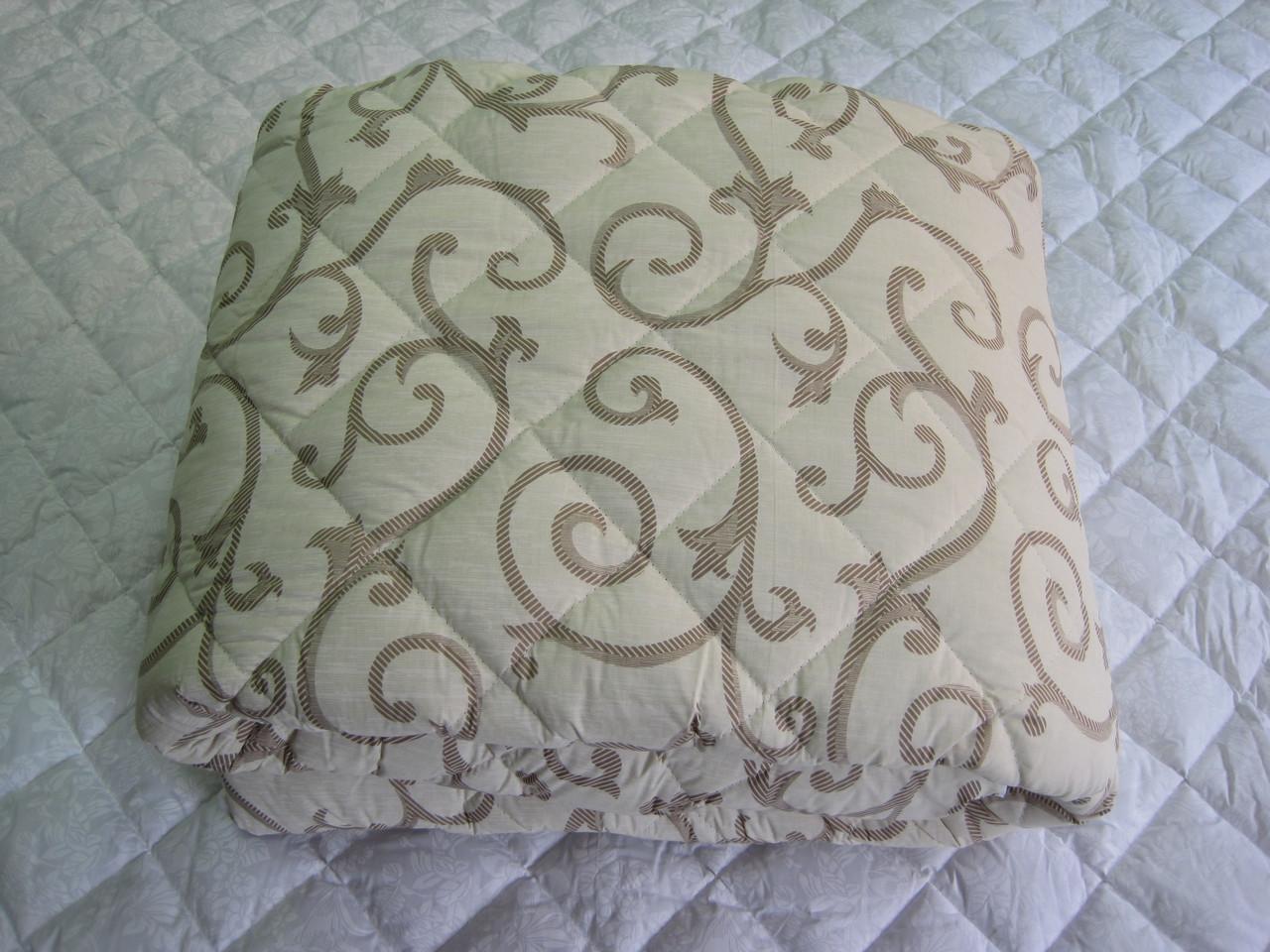 Одеяло силиконовое двухспальное евро 200*210 хлопок (2889) TM KRISPOL Украина