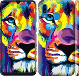 """Чехол на Galaxy A30 2019 A305F Разноцветный лев """"2713c-1670-328"""""""
