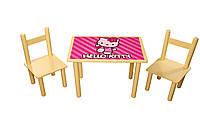 Набор стол и 2 стульчика Китти. Украина (Арт. 061)