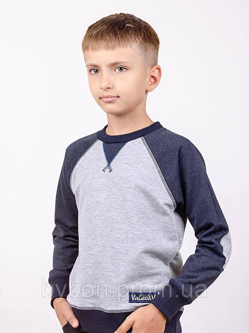 Джемпер реглан для мальчика рост 116-146