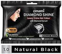 Крем-краска для волос Черный Эмами, Diamond Shine Creme Hair Colour Emami, 20 г + 20 мл