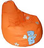 Крісло мішок груша sportkreslo Тедді Екокожа розмір L 95*115см помаранчеве, фото 2