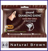Крем-краска для волос Коричневый Эмами, Diamond Shine Creme Hair Colour Emami, 20 г + 20 мл