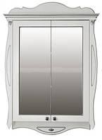 Шкаф зеркальный Атолл Ривьера ivory (слоновая кость, патина серебро), 170х1150х780 мм