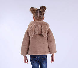 Детская куртка-шубкас ушками демисезонная для девочки | 80-120р., фото 3