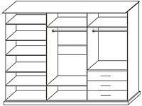 """Спальня """"С-2 New"""" Шкаф-купе 3-дверный 2,37 (Скай), фото 1"""