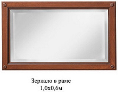 "Гостиная ""Лаура Нова"" Зеркало в раме (Скай)"