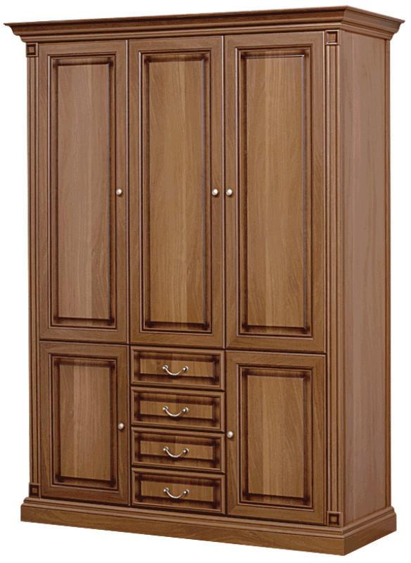 """Гостиная """"Набукко/Nabucco"""" Шкаф 3-х дверный 1,62 ЗЕРКАЛО (Скай)"""