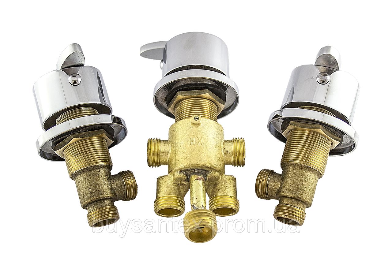 Кран вбудовується на борт ванни, змішувач для гідромасажної ванни, на три потоки (CKLJ8888) Комплект 3 шт.