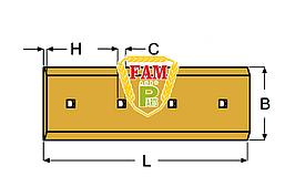 Нож ковша (режущая кромка) 1210х360 мм Liebherr 5716012