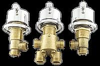 Кран вбудовується на борт ванни, змішувач для гідромасажної ванни, на два потоки (CKLJ9999) Комплект 3 шт.