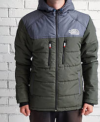 Куртка Норс Фэйс мужская осень-зима серая синтепон водоотталкивающая ткань (реплика) Jacket The North FaceGrey