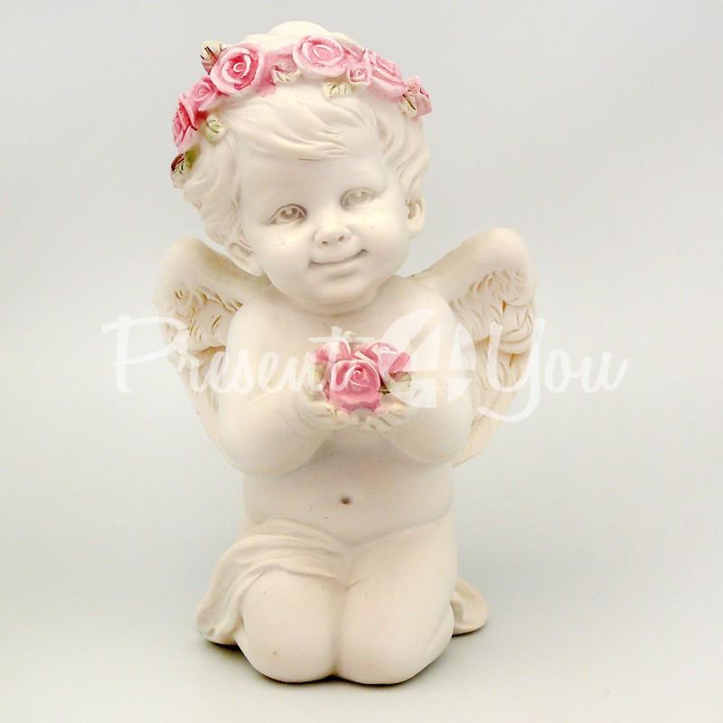 Статуэтка «Ангелочек с цветами», 10х9х5 см.