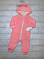 Флисовый комбинезон для девочки розовый в горох  Carters 6м на рост 61-67 см
