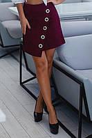 Женская вельветовая юбка 1068 (42 44 46 48) (цвет бордо) СП, фото 1