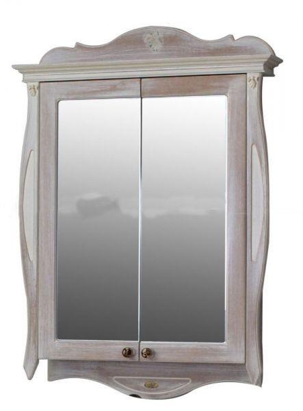 Шкаф зеркальный Атолл Ривьера daisy (белый), 170х1150х780 мм