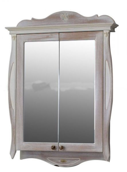 Шкаф зеркальный Атолл Ривьера daisy (белый), 170х1150х780 мм, фото 1