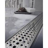 Душевой канал Styron с полированной решеткой 700 мм Бейсик сухой сифон