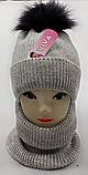 М 5094 Комплект для девочки с люрексом шапка+хомут,кашемир,флис, фото 2