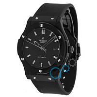 Черные часы механические мужские реплика Hublot Classic Fusion высочайшего качества