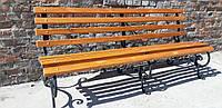 Кованая лавка садовая Светлана 2 м на трех опорах ЯСЕНЬ, фото 1