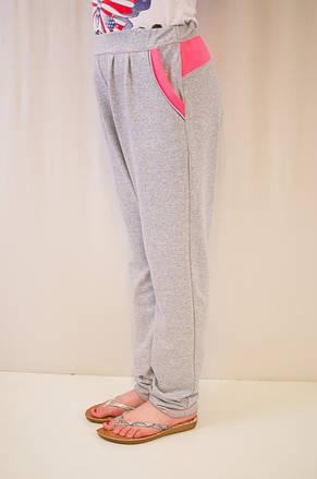 Оригинальные и стильные трикотажные штаны для девочки в школу., фото 2