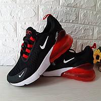 Nike Air Max 270 черные найк кроссовки женские кеды, женская обувь