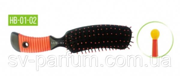 HB-01-02 Щетка массажная для волос LUXURY