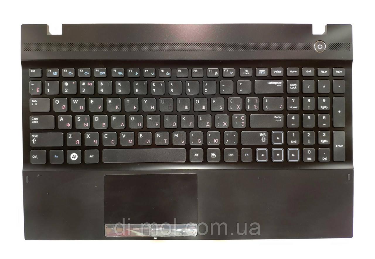 Оригинальная клавиатура для ноутбука Samsung NP300V5, NP305E5, NP305V5 series, uk, black, передняя панель