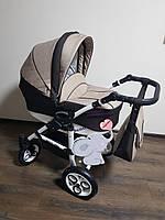 Детская универсальная коляска 2-в-1 Saturn Len (Сатурн лен) пластиковая корзина L-10 коричневая с бежем