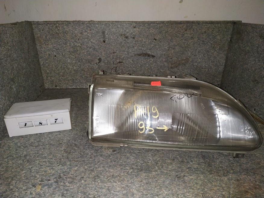 №187 Фара ПРАВА для Renault 19 93-95