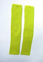 Дитячі вязані гетри для гімнастики і танців 35 см Гірчиця для дівчаток до 10 років, фото 1