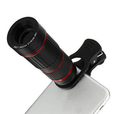 Монокуляр для телефона в алюминиевом корпусе - Монокль Losso Premium 18x (Линзы FMS)